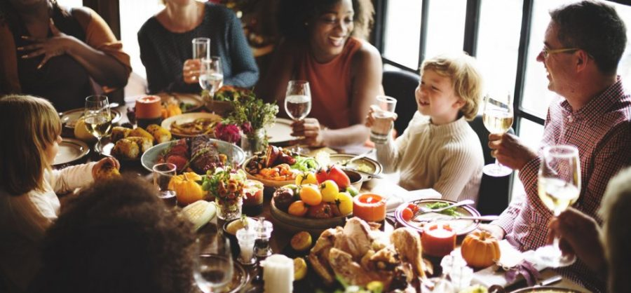 Thanksgiving dinner, a time to give and receive love