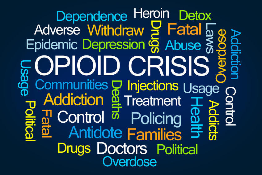 Opioid crisis word cloud / Robert Wilsoon