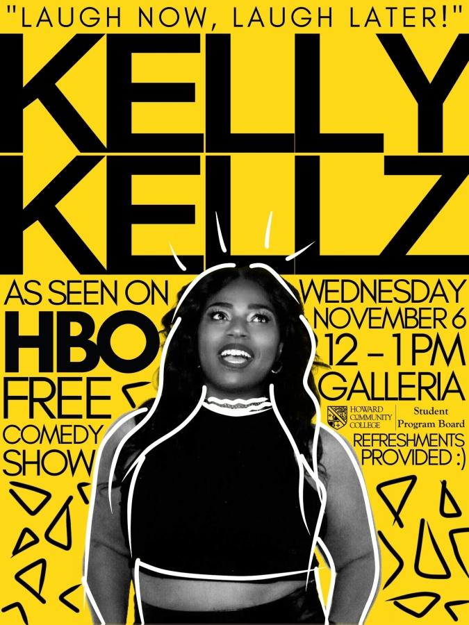 Kelly Kellz HCC event poster / Student Program Board