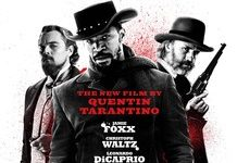 "The promotional poster for ""Django: Unchained"" in which Jamie Foxx plays Django."