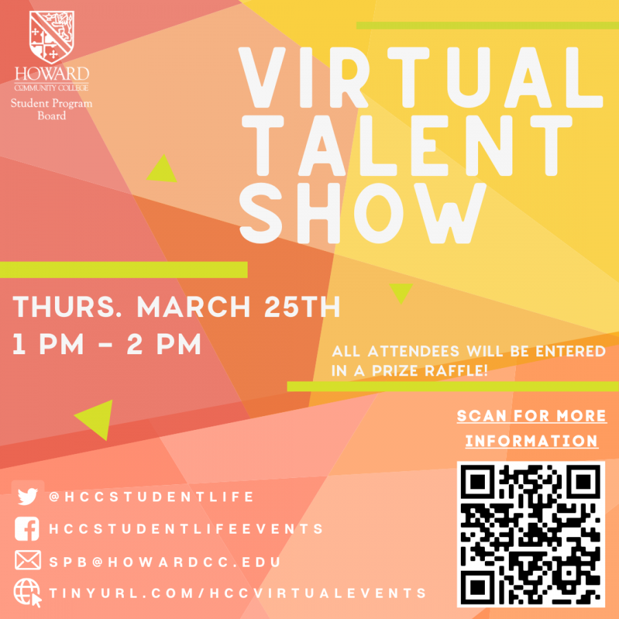 Student Life hosted a virtual talent show on Thursday, March 25th.