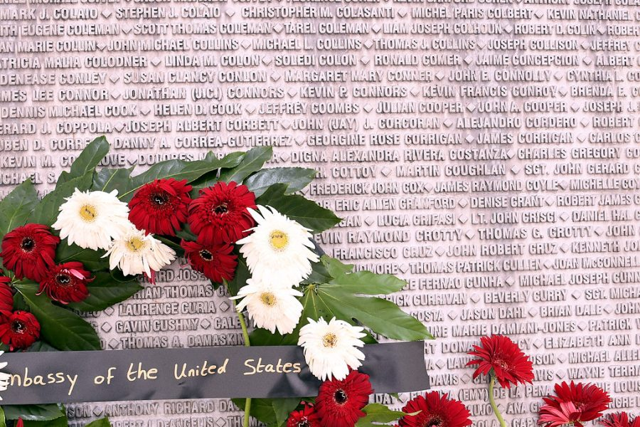 2,996 Americans lost their lives in the Terror Attacks on September 11, 2001.