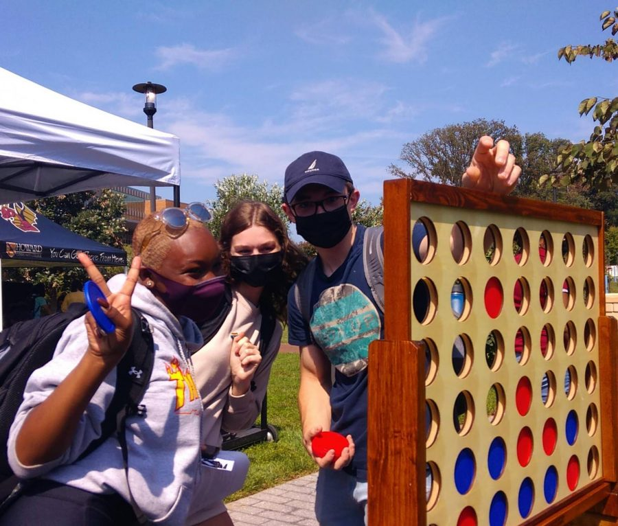 Club Rush was one of the many in-person events students frolicked to after on-campus activities were cleared to resume.